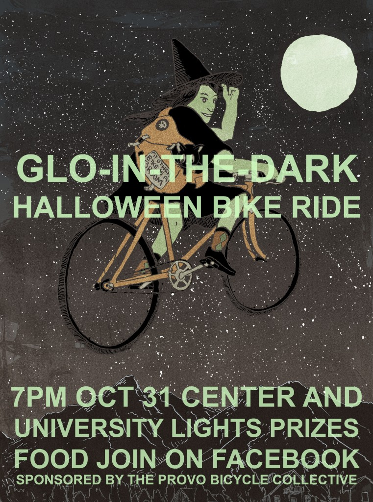 Glo-in-the-Dark Halloween Ride Poster