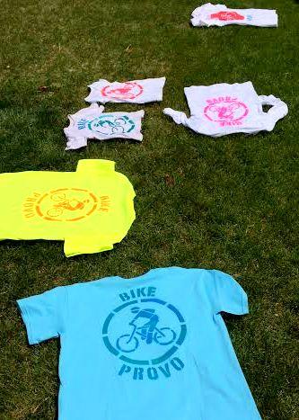 bike shirts on ground
